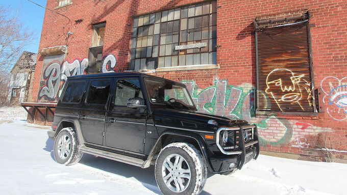 01/2015, Impression of the Mercedes G500 in Detroit