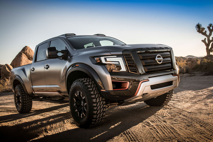 nissan titan warrior concept raptor fighter mit v8 diesel auto motor und sport. Black Bedroom Furniture Sets. Home Design Ideas