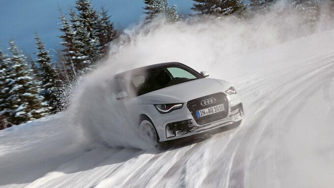 Audi A1 quattro, Frontansicht, Driften