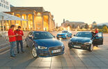 Audi A3 Sportback 1.4 TFSI, BMW 116i, Mercedes A 180, Front view