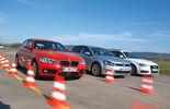Audi A3 Sportback 1.6 TDI Ultra, BMW 116d, VW Golf 1.6 TDI, Front view