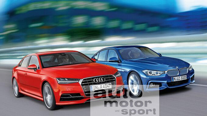 Audi A4, BMW Dreier