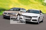 Audi A4, VW Passat, Frontansicht