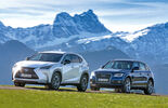 Audi Q5 2.0 TFSI Quattro, Lexus NX 300h E-Four F SPORT, Side view