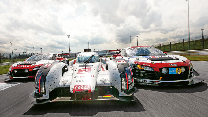 Audi R18-LMP1 und Audi R8-GT3, Tracktest, Impressionen