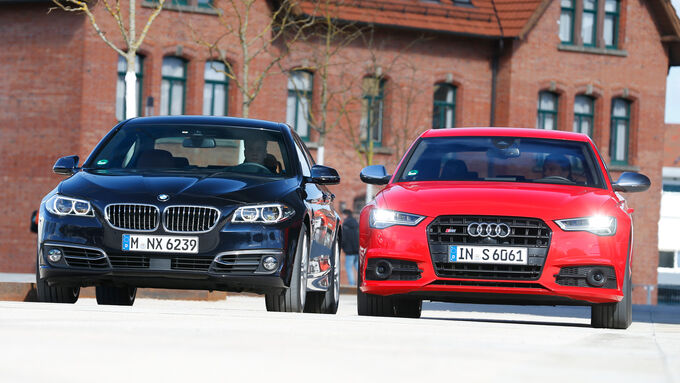 Audi S6, BMW 550i xDrive, Front view