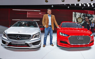 Audi TT Sporback und Mercedesd CLA Paris