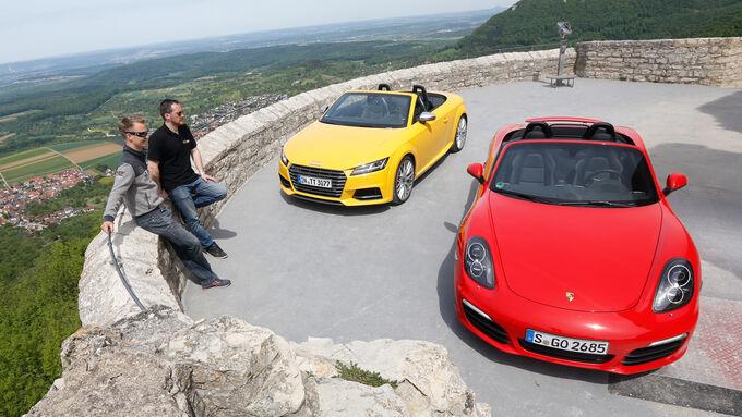 Audi TTS Roadster, Porsche Boxster S, Frontansicht