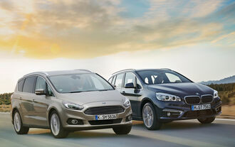 BMW Gran Tourer 220d xDrive, Ford S-Max 2.0 TDCi, Frontansicht