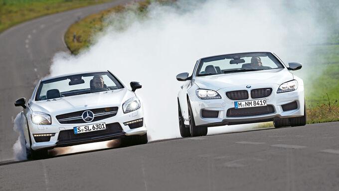 BMW M6 Cabrio, Mercedes SL 63 AMG, Cabrios