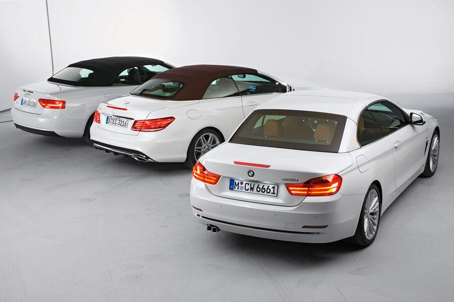 cabrio vergleich bmw 4er cabrio vs audi a5 mercedes e. Black Bedroom Furniture Sets. Home Design Ideas