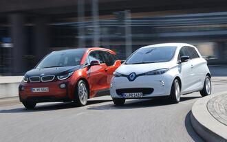 BMW i3, Renault Zoe Intense, Frontansicht