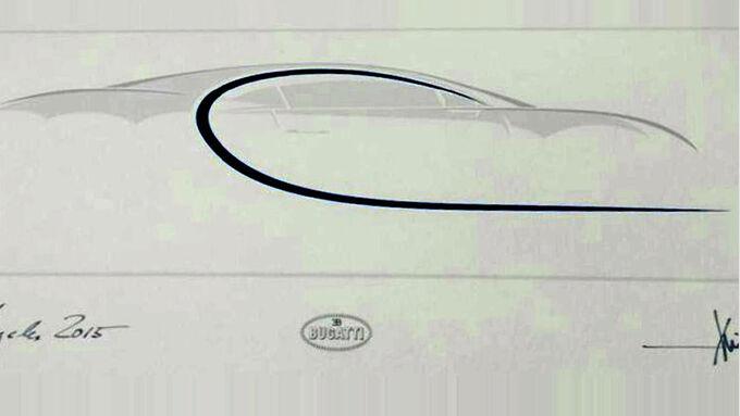 Bugatti Chiron Zeichnung