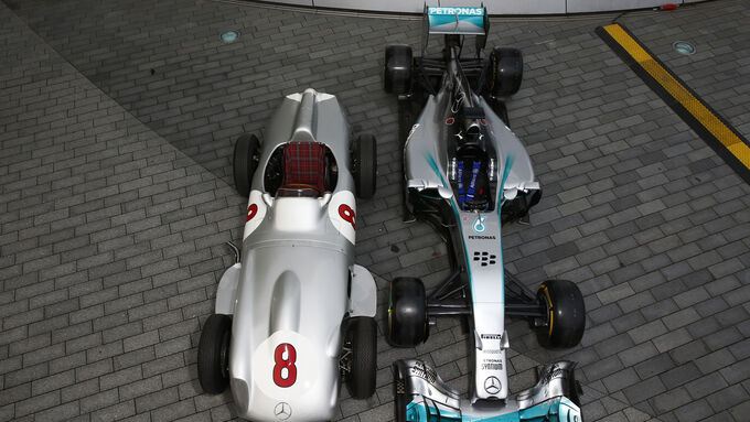 Comparison: Mercedes W196 vs. AMG W05 - 2015