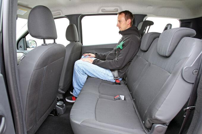 Dacia Lodgy dCi 90, Rücksitz, Rückbank