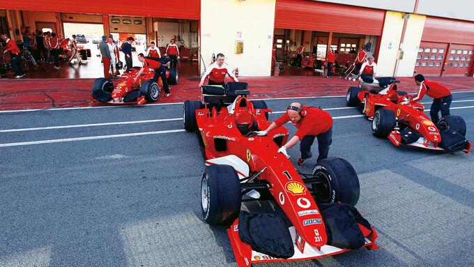 F1 Clienti, Ferrari, Boxengasse