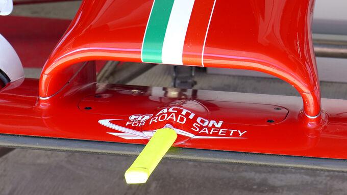 Ferrari mit neuen Teilen