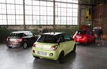 Fiat 500, Mini One, Opel Adam, Heckansicht