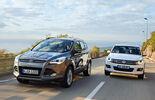 Ford Kuga 2.0 TDCi 4x4, VW Tiguan 2.0 TDI 4Motion, Frontansicht