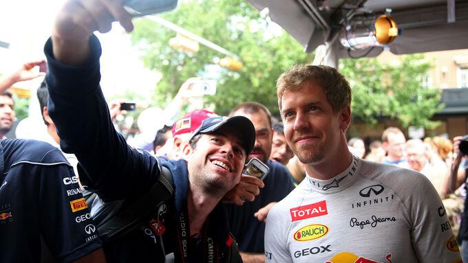 Vettel startet aus der Box