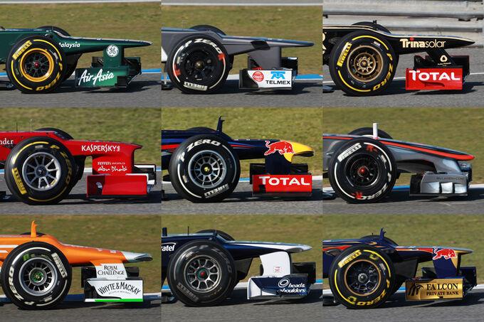 Formel 1 technik nasen im vergleich die formel 1 generation