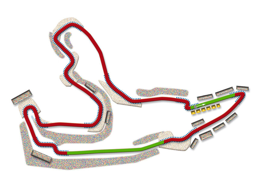 GP Belgien Spa Strecke DRS Zone 2013