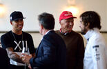 Hamilton - Alesi - Lauda - Hamilton - Champions Dinner - GP Österreich 2015