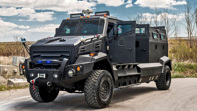 Inkas Huron APC armoured transporter