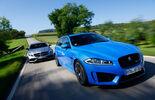 Jaguar XFR-S Sportbrake, Mercedes CLS 63 AMG S Shooting Brake, Frontansicht