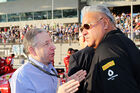 Jean Todt Vijay Mallya - GP Abu Dhabi 2014