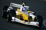 Jenson Button - Renault R202 - Test - Barcelona - 2002