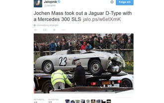 Jochen Mass - Mercedes 300 SL - Crash - Goodwood 2015