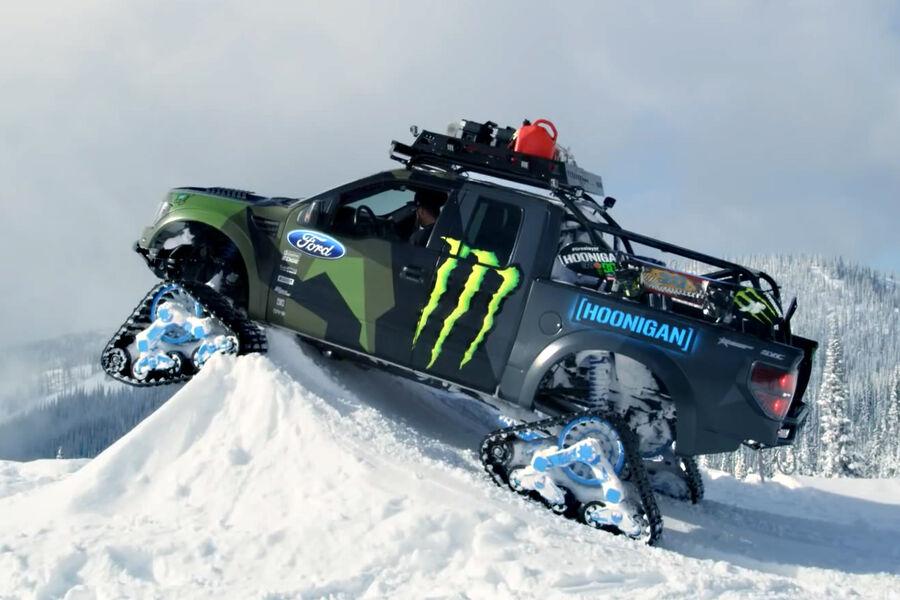 Ford F150 Raptor-Trax 2014: Grat-Wanderung mit Monster ...