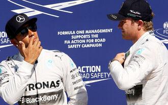 Lewis Hamilton Nico Rosberg - GP Italien 2014
