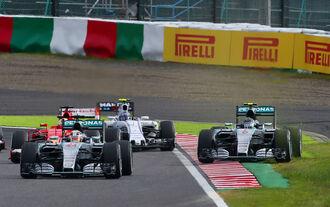 Lewis Hamilton Nico Rosberg - GP Japan 2015