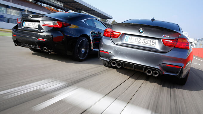Lexus RC F, BMW M4 Performance, Rear view