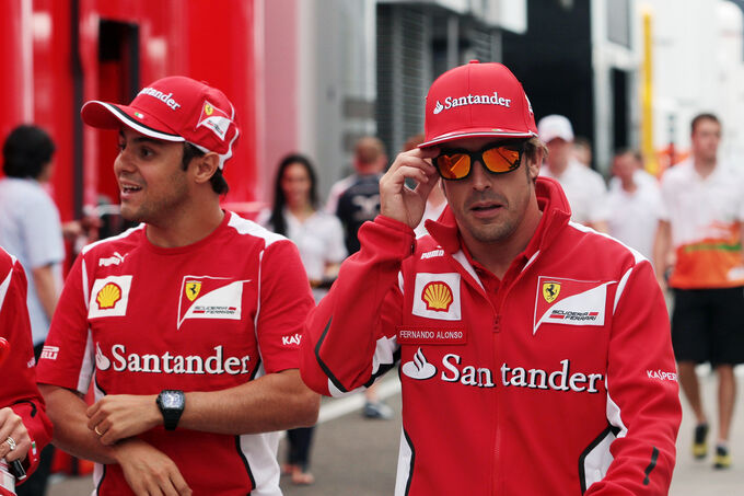 Massa Alonso - Ferrari - Formel 1 - Budapest - GP Ungarn - 26. Juli 2012