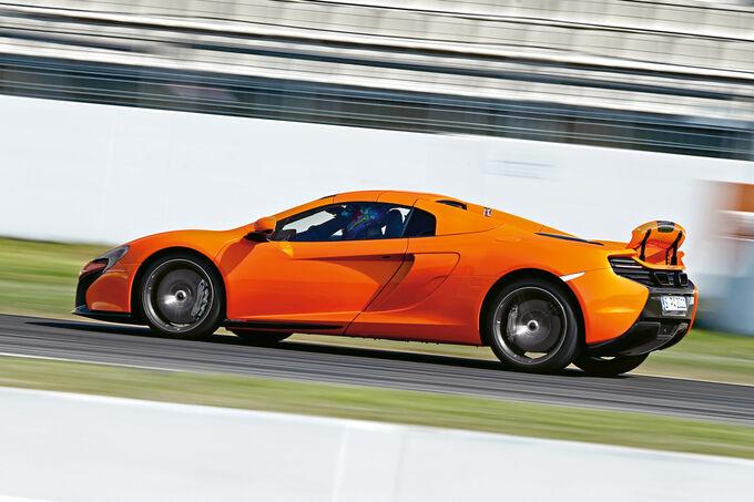 McLaren 650s Spider, Side view