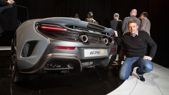 McLaren 675 LT Sitzprobe