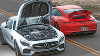 Mercedes AMG GT S, Porsche 911 Carrera GTS, Motorhaube