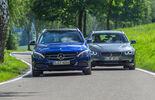 Mercedes C 180 T, BMW 330d, Frontansicht