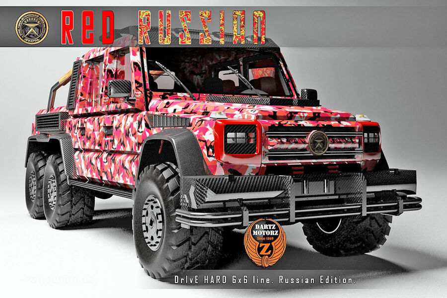 mercedes g 63 amg 6x6 dartz red russian roter russe. Black Bedroom Furniture Sets. Home Design Ideas