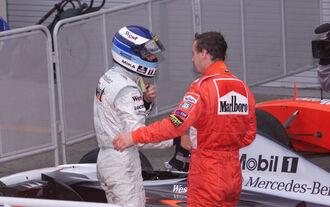Mika Häkkinen Eddie Irvine - GP Japan 1999