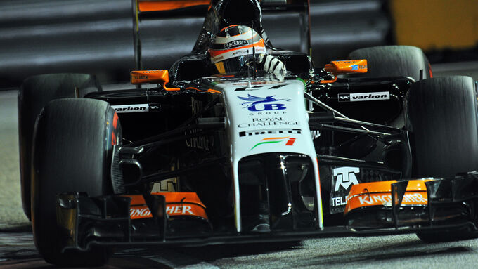Force India nicht in Top Ten
