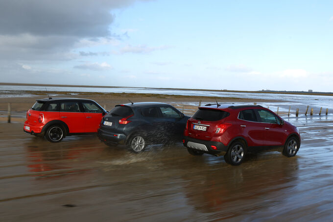 Opel mokka mini countryman und nissan juke beach boys for Nissan juke dauertest