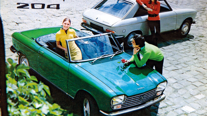 Peugeot 204 Cabriolet, Prospekt, Werbung