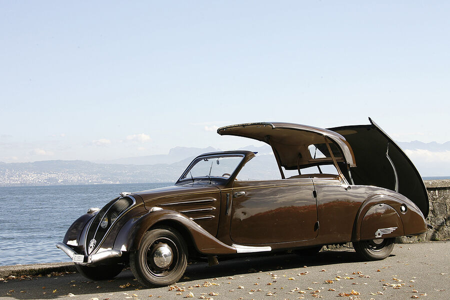 peugeot 402 eclipse die katze mit dem hei en blechdach auto motor und sport. Black Bedroom Furniture Sets. Home Design Ideas