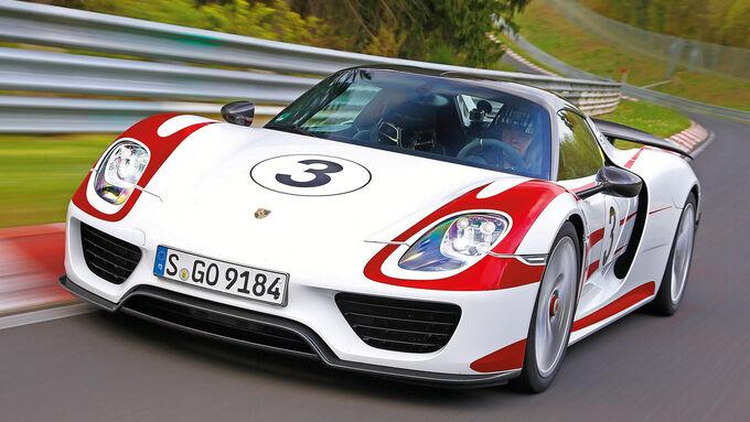 Porsche 918 Spyder, Front view