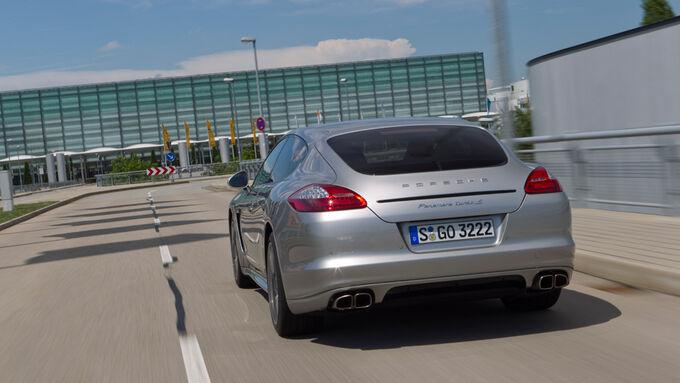Porsche Panamera Tubo S, Rückansicht, Heck