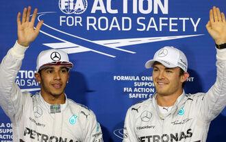 Rosberg Hamilton - GP Abu Dhabi 2014